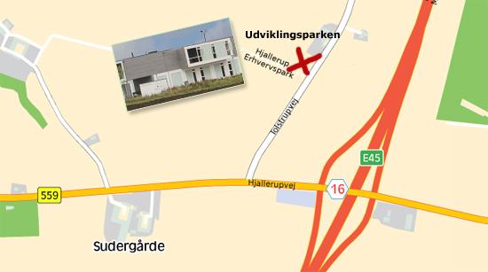 Projektejendomme ved motorvej E45, Hjallerup